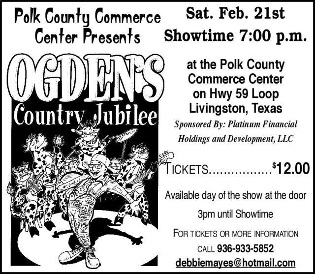 Ogden's Country Jubilee - Livingston, Texas
